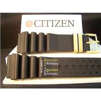 Citizen Watch Band Aqualand 24mm reg/meters gold tone buckle
