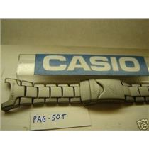 Casio watch band PAG-50T, fits PRG-40T.Titanium Bracelet w/ Lugs and Spring Bars