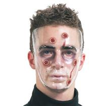 Bullet Holes Wounded Clear Transparent Adult Face Mask With Bullet Wounds