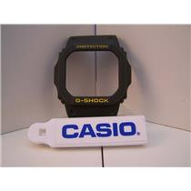 Casio Watch Parts G-5600 A-3, GW-M5600.Bezel/Shell Green w/Yellow Letter G-Shock