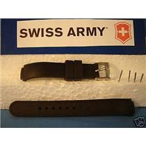 Swiss Army watch band Base Camp Ladies Black Silicone Rubber Strap