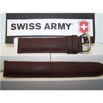 Swiss Army Watch Band Cavalry Burgundy Leather mns 18mm