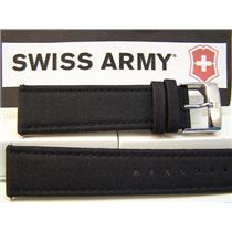 Swiss Army Watch Band Infantry 22mm black Mesh Cap leathr