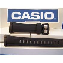 Casio Watch Band WVA-109 Wave Ceptor Black Resin Strap