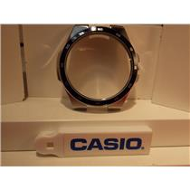 Casio Watch Parts  EF-340 : Case / Bezel / Crystal. Steel Silver Color