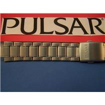 Pulsar Watch Band Model PJ6007. Fits Mens Railroad Watch 20mm w/ Curved End Caps