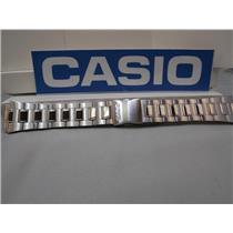 Casio Watch Band AQ-164 Steel Bracelet W/Push Button Deployment buckle 18mm X 25mm
