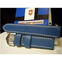 Swiss Army Watch Band Cavalier.Blu Italian leather 20mm.3mm Thick/Soft Prem Qual