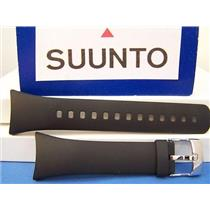 Suunto Watch Band M1 and M2. Man's Black Resin Strap. Watchband w/Pins