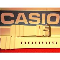 Casio Watch Band AMW-380, White Resin Strap w/Pins 20mm. Fits Most 20mm Watches