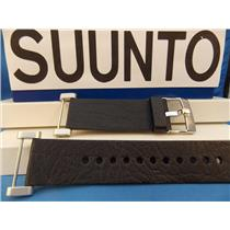 Suunto Watch Band Core Black Leather. Steel buckle/Hardware w Attaching T-Bars
