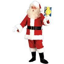 Men's Deluxe Fleece Santa Claus Suit Costume Size Large Chest Size 42-44