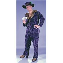 Purple Velvet Big Daddy Adult Pimp Costume