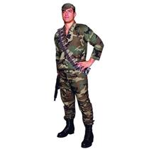 Camouflage Commando Adult Soldier Full Figure Costume 42-50 chest