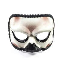 Skeleton Venetian Half Masquerade Mask on Glasses