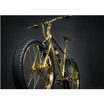 THE GOLD BIKE The Worlds First 24K Gold Extreme Fat Tire Bicycle Salsa Surly