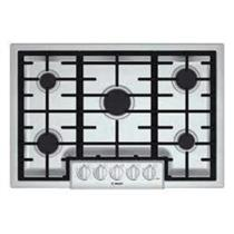 """BOSCH 800 Series NGM8055UC 30"""" Gas Cooktop with 5 Sealed Burners SS Details"""