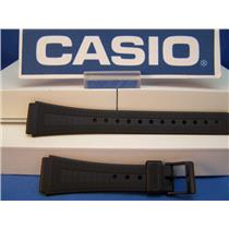 Casio Watch Band AQ-48. AQ-51. F-84. Black Resin Strap