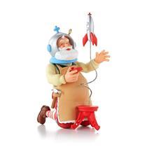 Hallmark Series Ornament 2013 Toymaker Santa #14 - Playing with a Rocket #QX9022