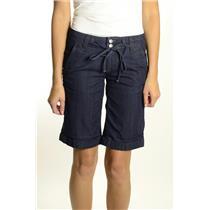 SIze 24 NEW Paige Premium Jeans Palisades Denim Short Cayman Tie Waist Cuffed