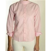 14 NWT Pale Horse Design Pink Collar Long Sleeve Childrens Equestrian Show Shirt