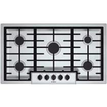 """BOSCH 500 Series 36"""" Gas Cooktop with 5 Sealed Burners NGM5655UC Details"""