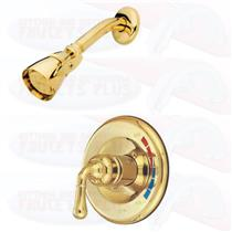 SHOWER FAUCET FAUCETS POLISHED BRASS KINGSTON KB632SO