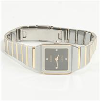 "Ladies 18k Yellow Gold & Tungsten ""Rado"" Jubile Anatom Wrist Watch W/ Diamonds"