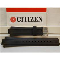 Citizen Watch Band AT0786 -07E Black Rubber Eco-Drive Chronograph Strap