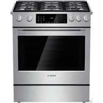 "Bosch 30"" Slide-in Dual-Fuel Range Stainless  HDI8054U Open Box - Excellent"