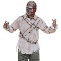 Barbed Wire Zombie Adult Costume Shirt and Mask