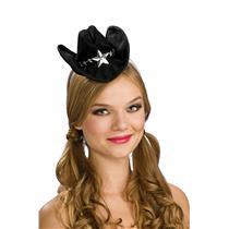 Black Mini Cowboy Star Cowgirl Hat