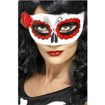 Women's Mexican Day Of The Dead Eyemask with Rose
