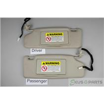 2000-2004 Volvo S40 Sun Visor Set with Covered Lighted Mirrors