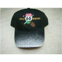 """Route 66 Gold Miners"" Black Speckled Bill Hat"