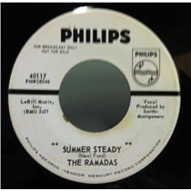 "THE RAMADAS summer steady / lonely tears 7"" VG+ WLP 40117 Vinyl 45 Record 1963"