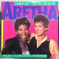 "ARETHA FRANKLIN jumpin jack flash 12"" Mint- AD1-9529 Translucent Audiophile 1986"