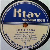 "HELEN STAMBLER little yomo 7""  VG- KTAV X 1 2 Vinyl 1952 Record"