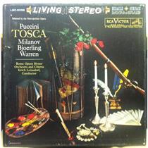 ERICH LEINSDORF puccini tosca 2 LP VG+ LSC-6052 Living Stereo SD 1957 w/Book USA