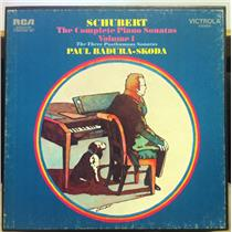 3 LP PAUL BADURA SKODA schubert complete piano vol. 1 VG+ VICS-6128 Stereo 1971