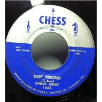 "CHUCK BERRY deep feeling / school day 7"" VG+ CHESS 1653 Vinyl 45 Record"