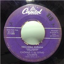 """CACHAO y Su RITMO CALIENTE descarga cubana /gozo mi trompeta 7"""" VG- F71098 Cuban"""