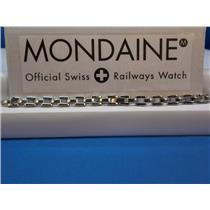 Mondaine Swiss Railways Watch Band 6mm Bracelet All Steel w/attaching 6mm T-bars
