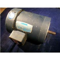 LEESON C6T17FC2D, 1HP ELECTRIC MOTOR, 208-230/460V, 1725/1425 RPM
