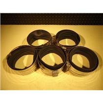 "Ideal/Parker 5"" Diameter Stainless Steel Pipe Repair Coupling, Lot of 5"