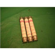 GOULD TRS2R, TRI-ONIC TIME DELAY 600 VAC. FUSE LOT OF (3)