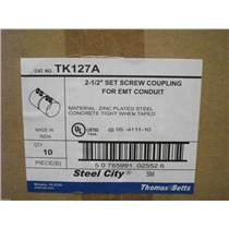 "Thomas & Betts 2-1/2"""" set Screw Coupling for EMT Conduit  TK127A"