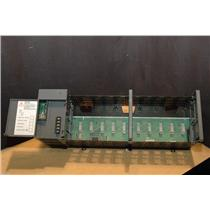 Allen Bradley, SLC 500, 1746-A10, Power Supply + 10 Slot Modular Chassis Rack