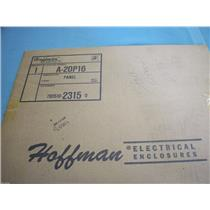 HOFFMAN 12 GAUGE WHITE ENAMEL PANEL  A-20P16
