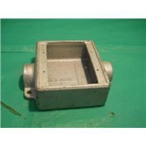 "CROUSE HINDS FSC222, 3/4"" TWO GANG OUTLET BOX 28.3 CU. IN."